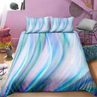 Linen Queen/King/Single/Double Bed Doona/Duvet/Quilt Cover Set Blue Gradient