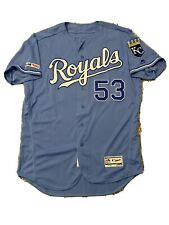 MLB Authenticated - Eric Skoglund Game-Used Powder-Blue KC Royals Jersey