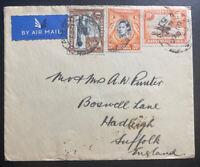 1940 Tanga Tanganyika British KUT Airmail Cover To Hadleigh England