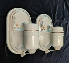 Pair of Vintage Porcelier Porcelain Sconces, New Wiring & Mounting Hardware (#3)