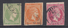Greece Sc 53, 54, 56 used 1880-1882 Hermes Heads, 3 different F-VF examples