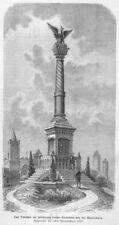 RUDELSBURG, Kösen, SAALECK, monument, Original gravure sur bois d'environ 1870