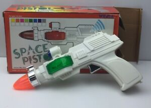 WEINA Battery Operated SPACE PISTOL IN BOX 9007 White Plastic