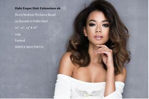 Halo Esque Hair Extensions Short/Medium Thickness Boost 145g