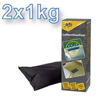 2 x 1kg Luftentfeuchter Kissen für  Auto Wohnwagen Boot - wiederverwendbar