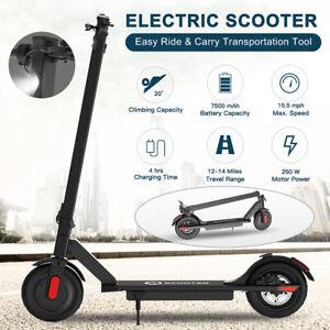 🛴Trottinette électrique 2Roues avec Pliable Adulte Jeune E-scooter 250W 15.5MPH