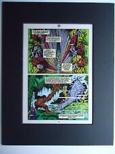 1980s Rick Veitch Swamp Thing Page Production Art Acetate Alan Moore Alf. Alcala