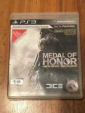 Medal of Honor -- Limited Edition (Sony PlayStation 3, 2010) No Manual