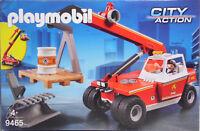 Playmobil 9465 Feuerwehr-Teleskoplader Schaufel- und Palettenaufsatz Palette NEU