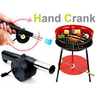 HOT Fan Blower for BBQ Fire Bellows Hand Crank Barbecue Outdoor Cooking Camping