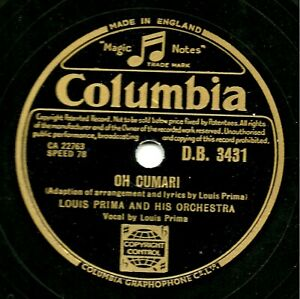 LOUIS PRIMA 78 OH CUMARI / TAKE A LITTLE WALK AROUND THE BLOCK(+ KELLY SMITH) E-