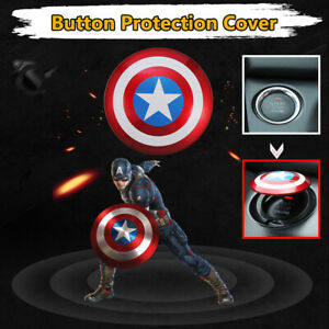 Captain America Car Interior Engine Ignition Start Stop Button Switch Cover Tool