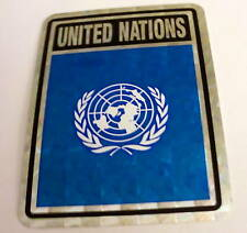 """""""3x4"""" United Nations Stickers / United Nations  Flag"""