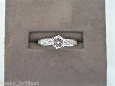 ENGAGEMENT 14K WHITE GOLD NATURAL DIAMOND RING