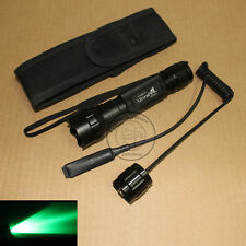 New UltraFire WF-501B CREE Green light LED 1Mode Flashlight Torch + Holster Set