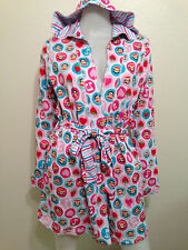 NWT PAUL FRANK JULIUS MONKEY NIGHT ROBE STRAWBERRY MUSIC NOTE KAWAII $49 XS S
