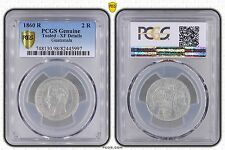 GUATEMALA - RARE 2 REALES SILVER XF COIN 1860 YEAR KM#134 PCGS GRADING XF