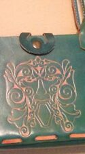 Wabags Turquoise Hand Tooled Leather Purse EXCELLANT !