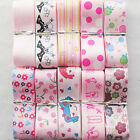 """1"""" 10YARDS Pink Mix Grosgrain Ribbon Bow Craft Appliques Packing DIY R0456"""
