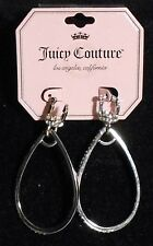 Juicy Couture Goldtone Crystal & Hoop Earrings NWT