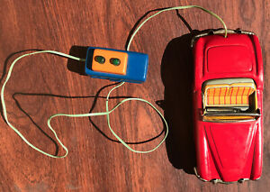 1954 Rare ICHIKO KAISER CONVERTIBLE Tin Darrin Car (Battery not operating) Japan