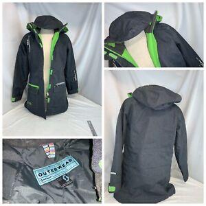 Scott Ski Jacket Sz 0 XS Women Gray Poly Zip Hood Worn 1x Mint YGI C0-963