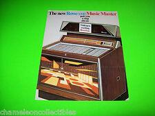 MUSIC MASTER MM-2 ROWEVUE PHONEVUE ROWE AMI 1968 ORIGINAL JUKEBOX FLYER BROCHURE