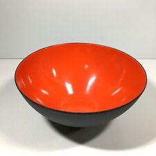 """Krenit Denmark Red Enamel Bowl 6.25"""" Designed by Herbert Krenchel MCM"""