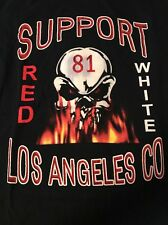 EXTREMELY RARE Hells Angels Los Angeles Co Large Tshirt Support 81