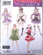 4046 SEWING PATTERN~UNC~MISSES/ADULT COSTUME~SZ 6-12~SANTA&LITTLE BO-PEEP&WITCH