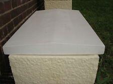 Pfeilerabdeckung Weiß Mauerabdeckung Abdeckplatte Beton mit Spitzdach