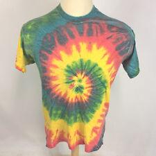 Vintage Hippy 80s 90s Blank Plain Tie Dye Distressed Worn Faded Thin T Shirt USA