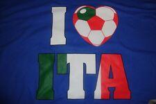 Italian Soccer Football Olympics Blue T-Shirt 2XL/XXL/XX-Large NWT!