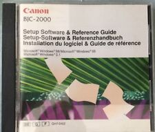 Canon BJC-2000 Setup Software & Reference Guide (1998) Windows 3.1, 95 & 98