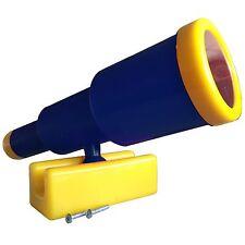 LoggyLand Teleskop Fernrohr Schwenkbar für Spielturm Spielhaus Spielbett blau