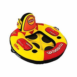 Sportsstuff Trek N Tube Inflatable Water Tube with Cooler, Cupholder, & Pockets