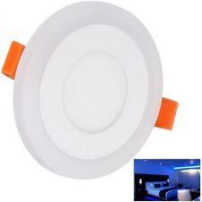 Techo LED 3W+3W Azul Iluminación empotrada en el panel cenital Lámpara luz del día blanco