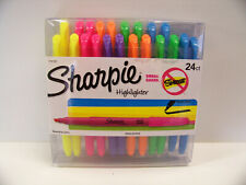 21 SHARPIE POCKET SIZE HIGHLIGHTERS NARROW CHISEL TIP SMEAR GUARD ASSORT COLORS
