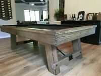 Isaac Pool Table 8ft. | plank and Hide | free shipping | Dining option available