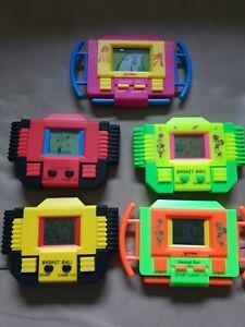 Vintage Games x5 Handheld LCD Rare