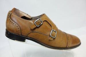 BANANA REPUBLIC Brown Sz 10 M Men Double Monk Strap Leather Loafers