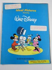 Walt Disney 16 MM Films for Rental 1980 Ideal Pictures Book Catalog