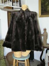 Gorgeous! Women's 1940's Beaver Coat Jacket lush Brown fur satin lined size S