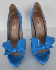 Valentino 'Couture' Patent Leather Platform Pump Blue Sz 39