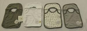 Burt's Bees Baby Unisex 4-Pack Organic Cotton Bibs DG4 Heather Gray One Size NWT