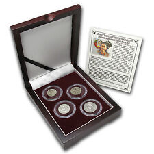 Russian 4-Coin Silver Kopek Transitional Set (0.1736 ASW) - SKU #70475