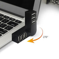 Mini 3 Port USB 2.0 Rotate Splitter Adapter Hub for PC Laptop Notebook Expansion