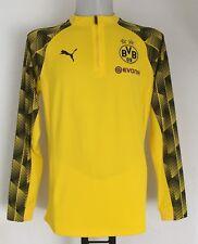 Borussia Dortmund 2017/18 Yellow 1/4 Zip Stadium Top by PUMA Size XL
