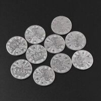 10pcs 25*2mm Game Token Stainless Steel Arcade Game Coin Pentagram Crown Tokens