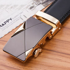 Business Leather Automatic Gold Buckle Classic Mens Luxury Waistband Belts